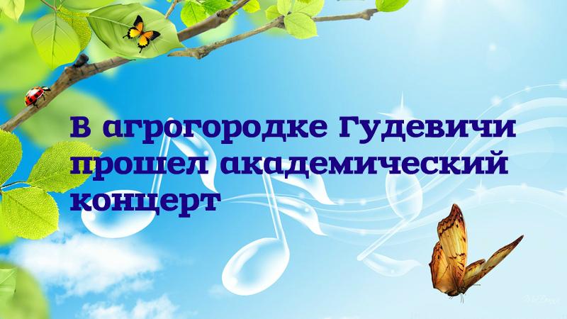 14 февраля прошел академический концерт в агрогородке Гудевичи